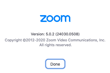 Verify Zoom client version