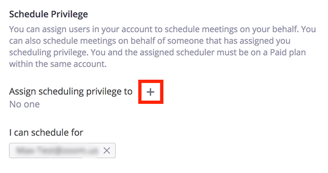 Assign Scheduling Privilege To